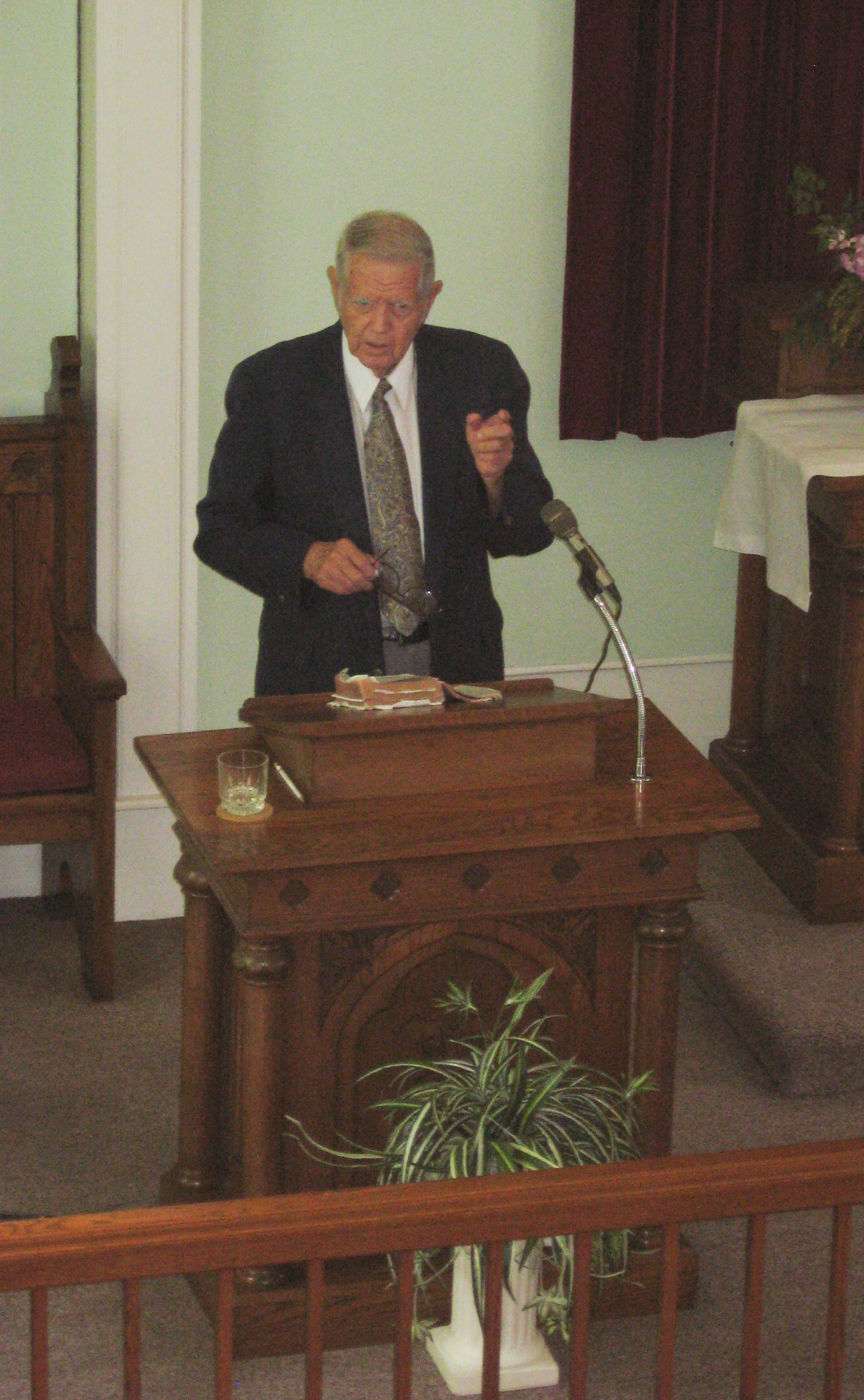 Dr. William Shea Preaching